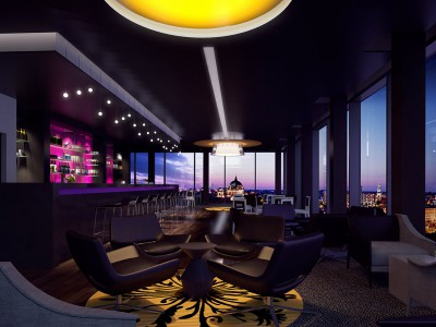 interior andel's Hotel Berlin  – ubm – architectural visualization